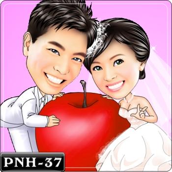 情侶雙人Q版漫畫-PNH-37